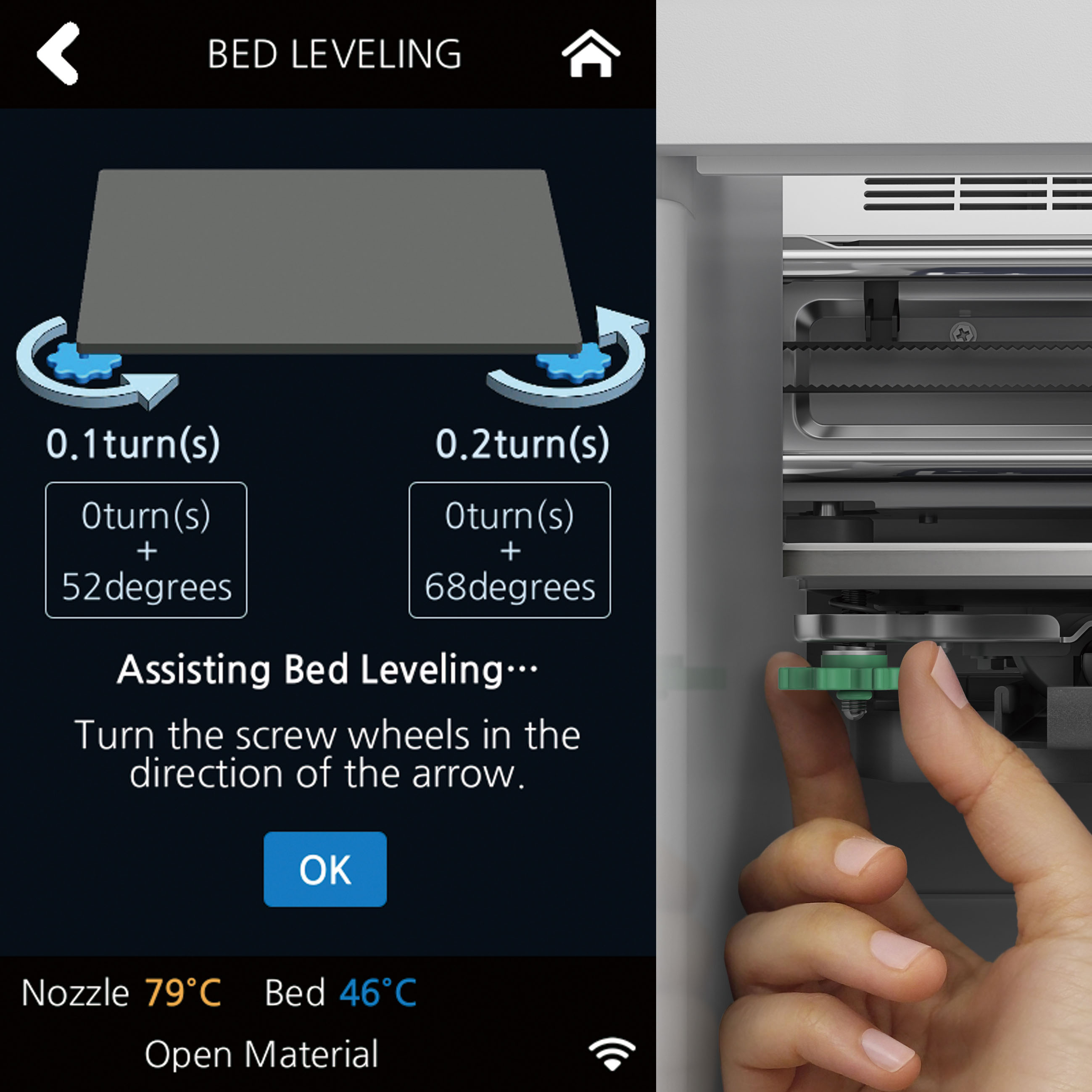 Impresora 3D Sindoh 3DWOX 1 Nivelacion Asistida