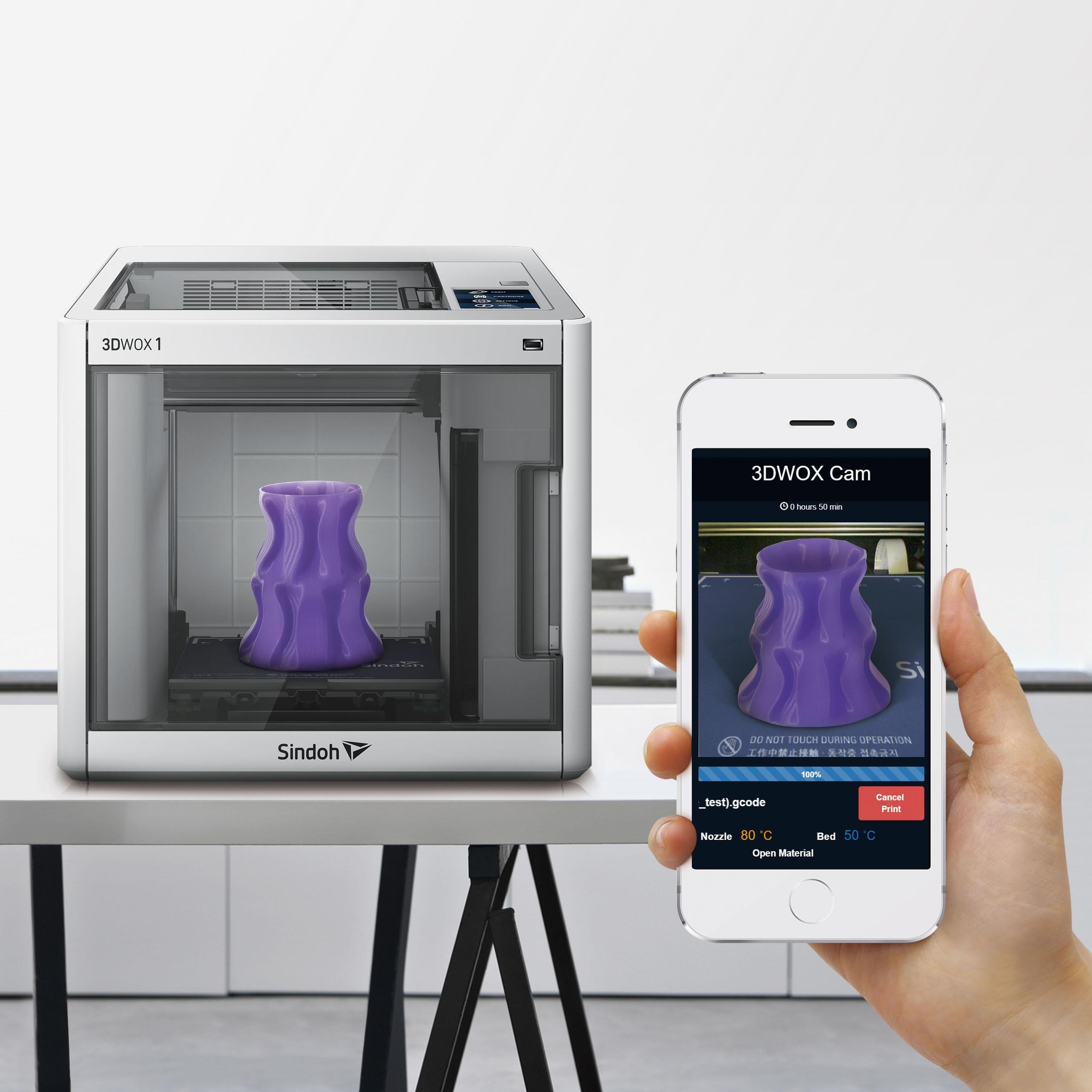 Impresora 3D Sindoh 3DWOX 1 Camara Integrada