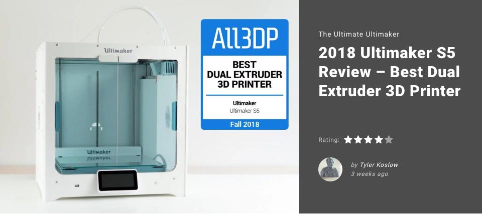 La Mejor Impresora 3D de Doble Extrusion del 2018, Ultmaker S5, S5, impresora de gran tamaño