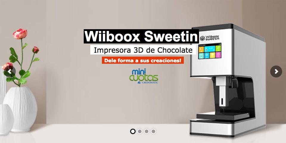 Impresora de Chocolate, Wiiboox Sweetin, impresora de chocolate, impresora de comida costa rica, impresora de chocolate costa rica