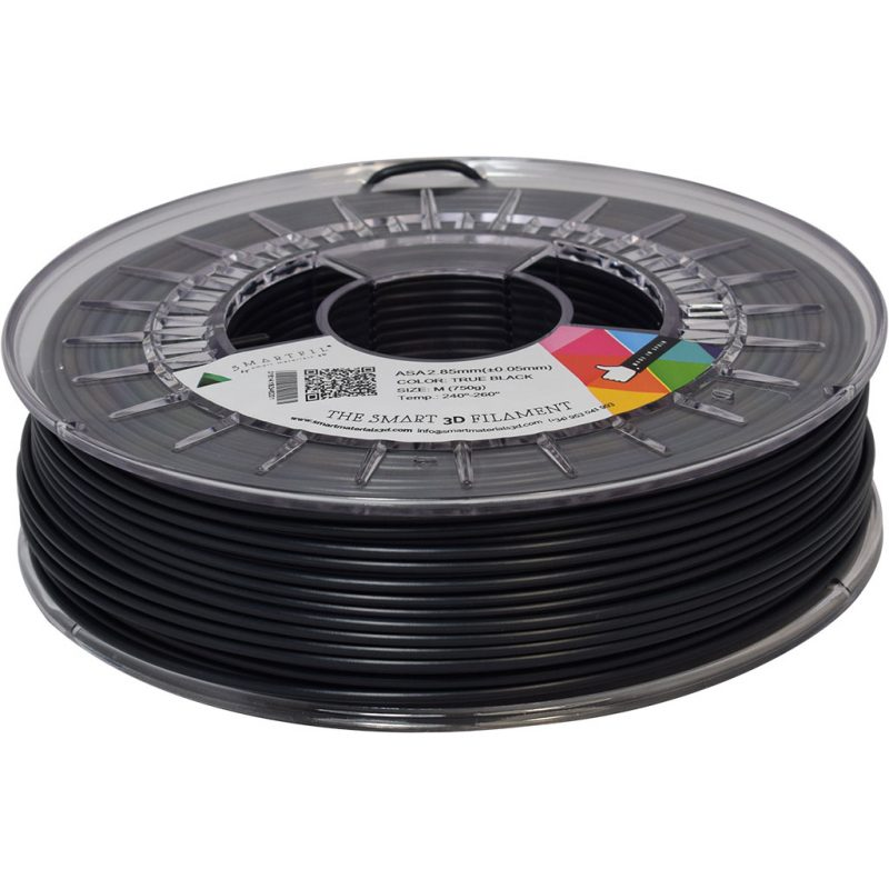 asa negro 2 85 - ASA - Filamento Smartfil 750gr. - 2.85mm - Negro