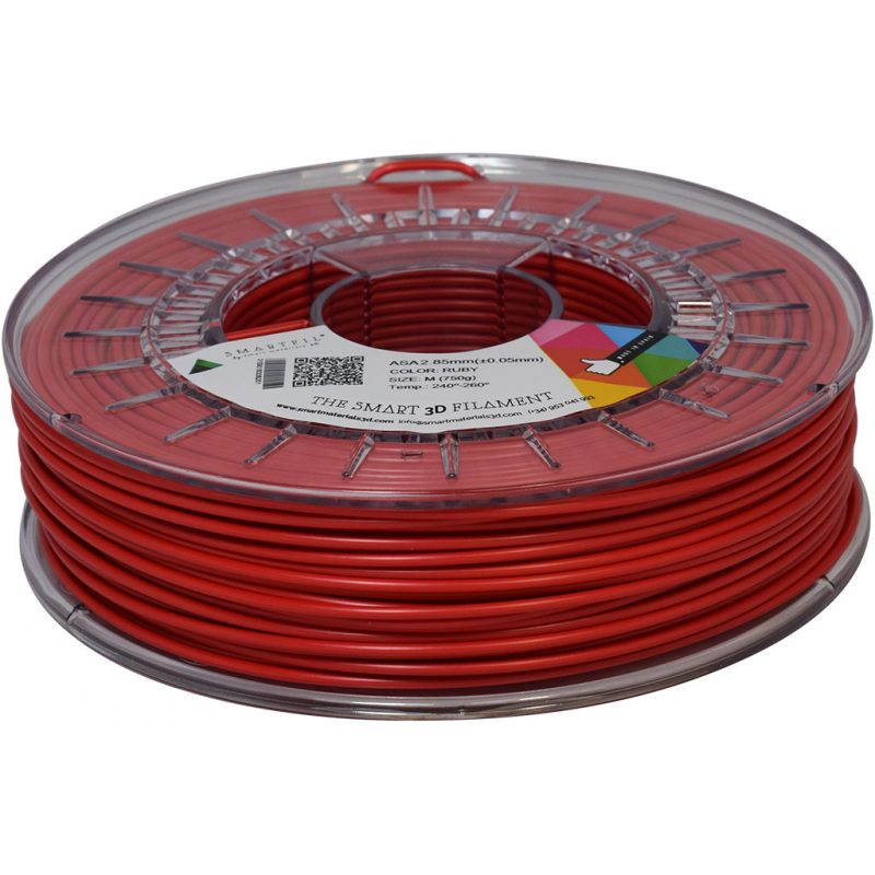 asa ruby 2 85 - ASA - Filamento Smartfil 750gr. - 2.85mm - Ruby