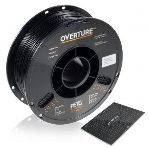 Overture PETG BLK285 300x300 - PETG Negro - Overture 1Kg - 2.85mm
