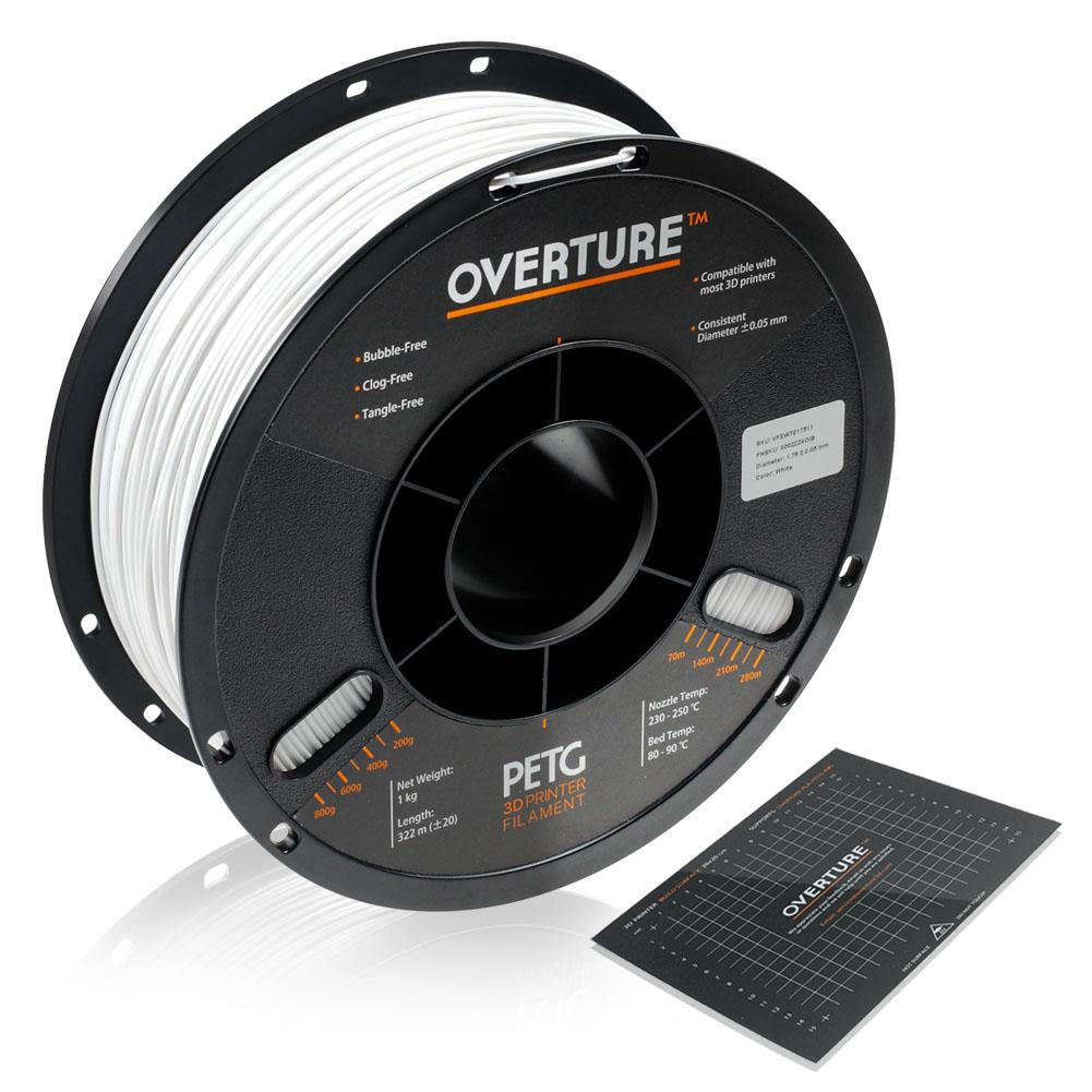 Overture PETG WHT285 - PETG Blanco - Overture 1Kg - 2.85mm