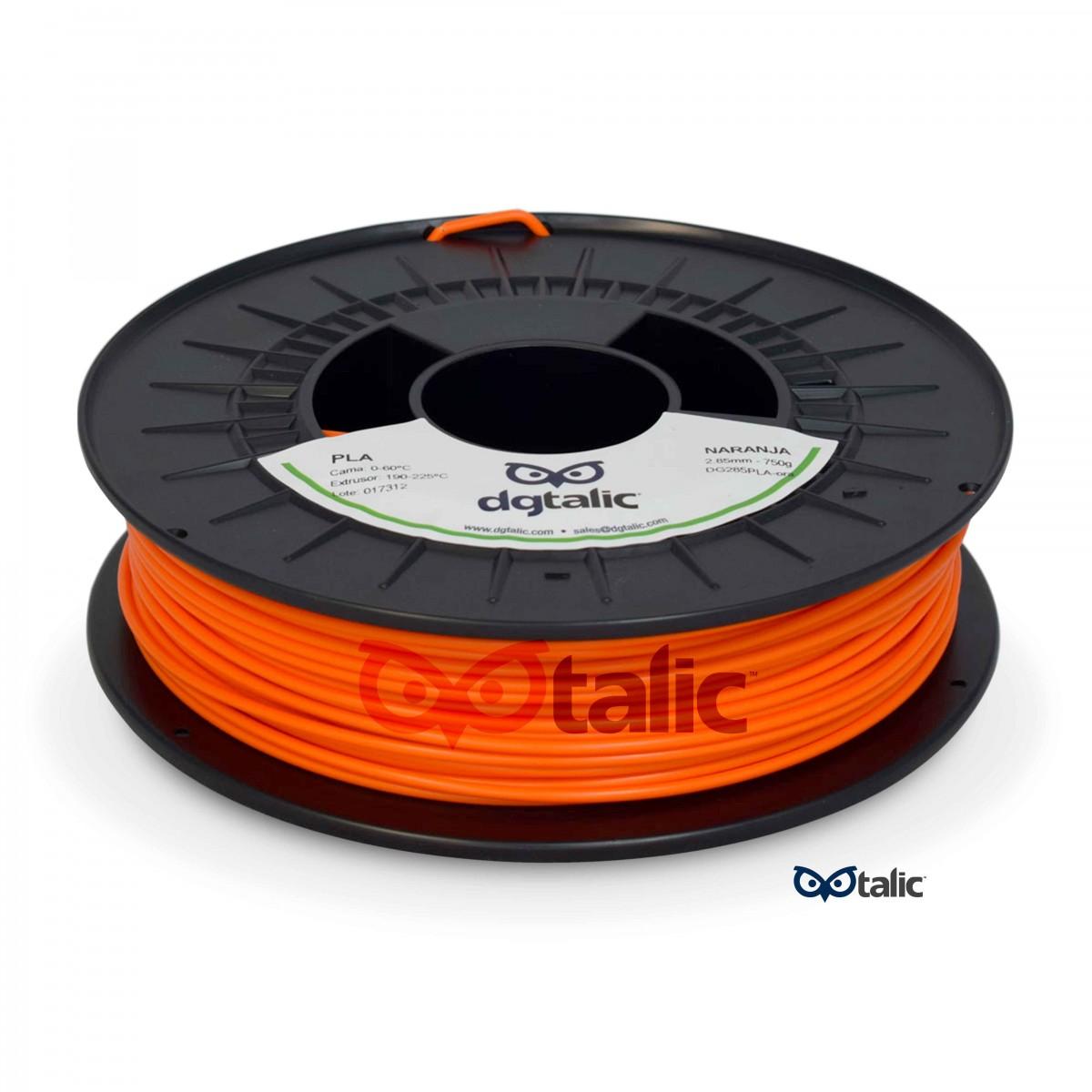 naranja 2 85 - PLA - Filamento DGtalic 750gr. - 2.85mm - Naranja