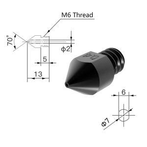 Hardened Steel Nozzle 0 4mm SL1200 2 300x300 - Boquilla de Acero Reforzado para Extrusor MK8 - 0.4mm