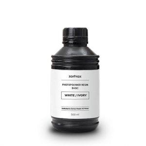 zortrax resin basic white ivory2 300x300 - Resina Basica - Zortrax Inkspire - Blanco Marfil (white/ivory) 500ml